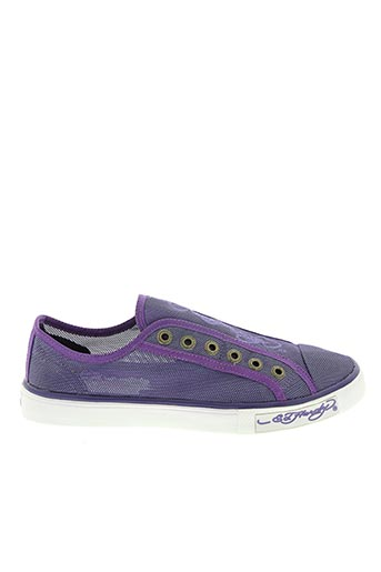 Baskets violet ED HARDY pour femme
