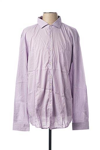 Chemise manches longues violet HUGO BOSS pour homme