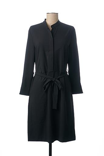 Robe mi-longue noir GANTER pour femme