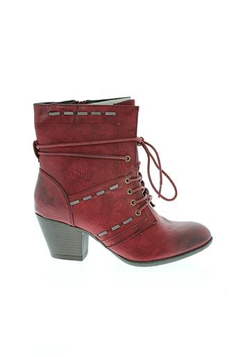 Bottines/Boots rouge RIEKER pour femme
