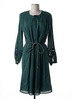Robe mi-longue vert CLOSED pour femme