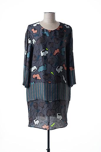 Robe courte gris ALYSI pour femme