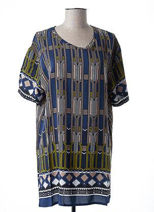 Tunique manches courtes bleu ALYSI pour femme