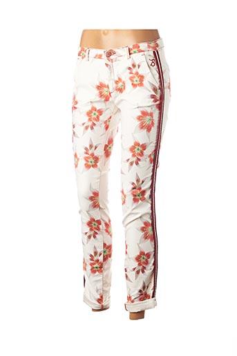 Pantalon 7/8 orange BARB'ONE pour femme