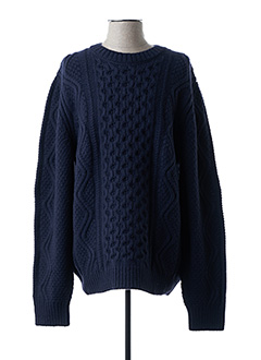Pull col rond bleu CLOSED pour homme
