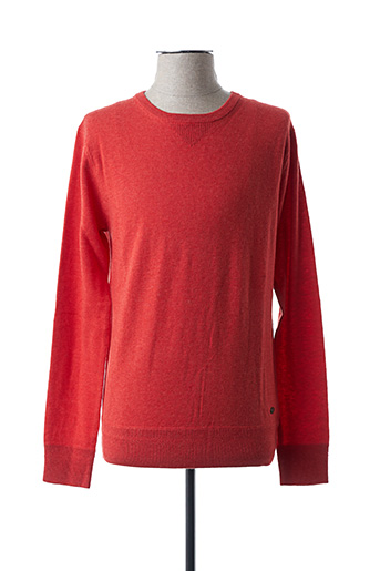 Pull col rond rouge SCOTCH & SODA pour homme