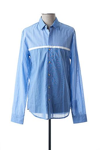 Chemise manches longues bleu SCOTCH & SODA pour homme