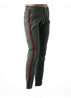 Pantalon casual vert BARB'ONE pour homme