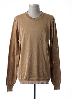 Pull col rond beige IMPERIAL pour homme