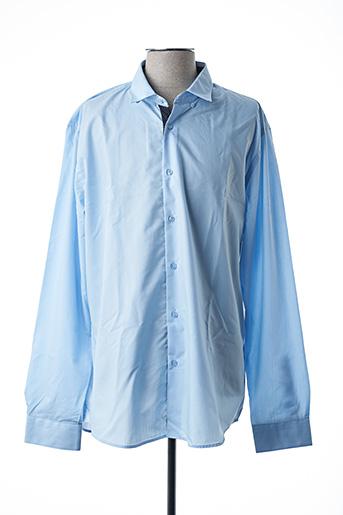 Chemise manches longues bleu BENSON & CHERRY pour homme