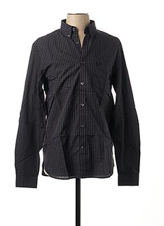 Chemise manches longues noir FRED PERRY pour homme