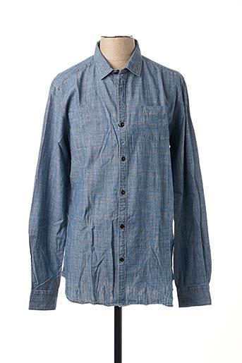 Chemise manches longues bleu DSTREZZED pour homme