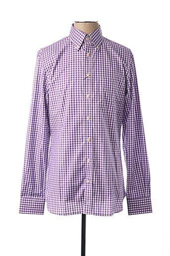 Chemise manches longues violet HACKETT pour homme