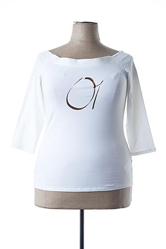 T-shirt manches longues blanc ASHLEY GRAHAM BY MARINA RINALDI pour femme