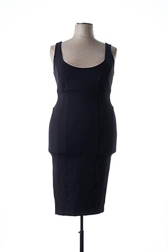 Robe mi-longue noir ASHLEY GRAHAM BY MARINA RINALDI pour femme