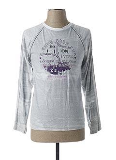 T-shirt manches longues gris BECKARO pour garçon