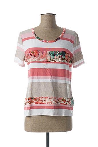 T-shirt manches courtes rose GEVANA pour femme