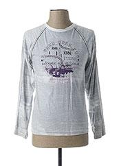 T-shirt manches longues gris BECKARO pour garçon seconde vue
