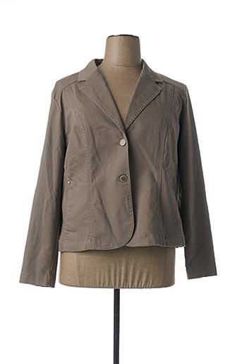 Veste chic / Blazer gris BRANDTEX pour femme