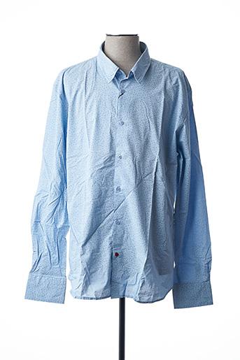 Chemise manches longues bleu LA CIBLE ROUGE pour homme