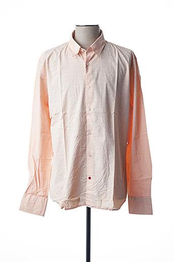 Chemise manches longues orange LA CIBLE ROUGE pour homme