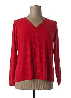 T-shirt manches longues rouge ESCORPION pour femme