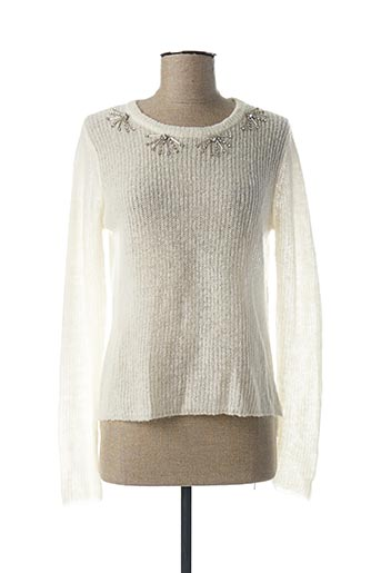 Pull col rond blanc I BLUES pour femme