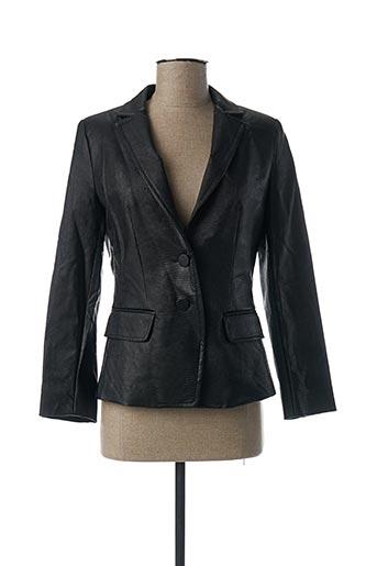 Veste simili cuir noir MARELLA pour femme