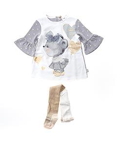 Robe mi-longue gris BOBOLI pour fille