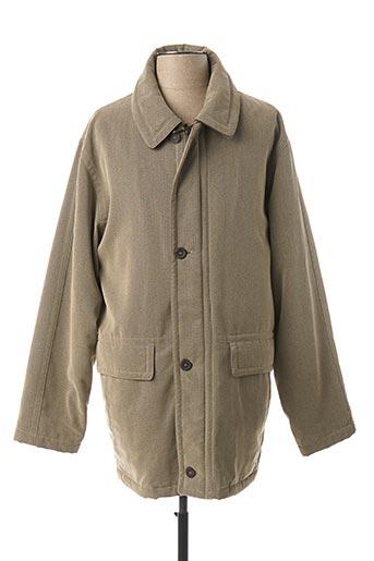 Manteau long vert BENNY LES HOMMES pour homme