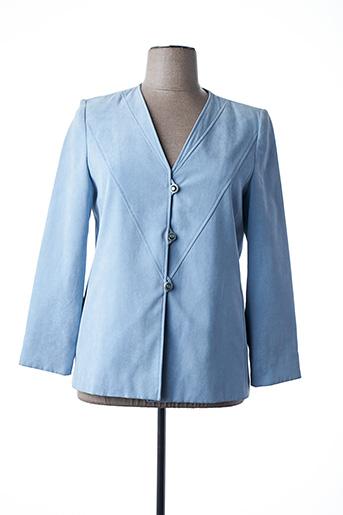 Veste chic / Blazer bleu ARIELLE pour femme