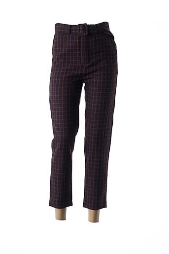 Pantalon 7/8 rouge DAPHNEA pour femme