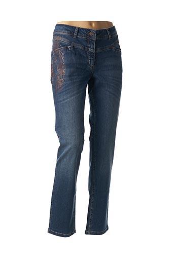 Jeans coupe droite bleu BETTY BARCLAY pour femme
