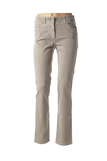 Jeans coupe droite gris GERRY WEBER pour femme