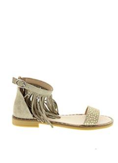 Sandales/Nu pieds beige ACEBOS pour femme