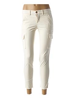Pantalon 7/8 beige HAPPY pour femme