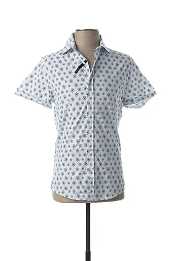 Chemise manches courtes blanc RECYCLED ART WORLD pour homme
