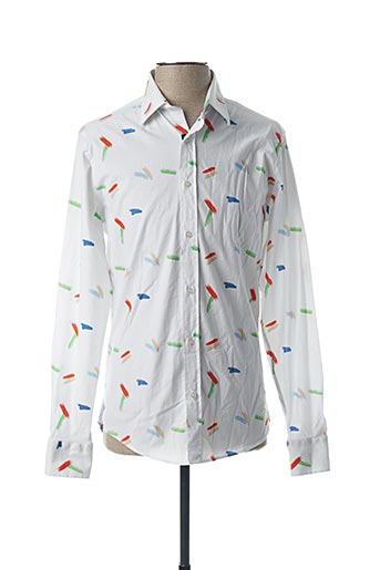 Chemise manches longues blanc RECYCLED ART WORLD pour homme