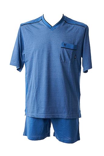 Pyjashort bleu HAJO pour homme