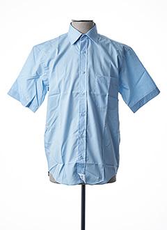 Chemise manches courtes bleu ARMORIAL pour homme