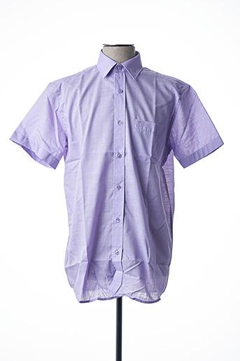 Chemise manches courtes violet ARMORIAL pour homme