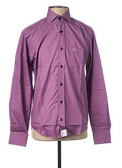 Chemise manches longues violet ARMORIAL pour homme