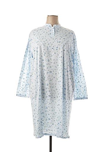 Chemise de nuit bleu ÉLIANE pour femme
