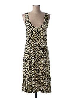 Robe mi-longue jaune CANAT pour femme