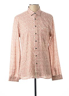 Chemise manches longues rose PEARLY KING pour homme