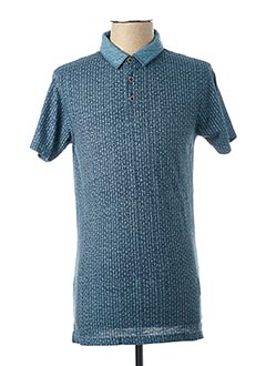 Polo manches courtes bleu PEARLY KING pour homme