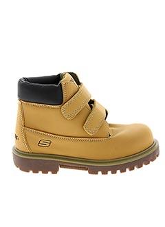 Bottines/Boots beige SKECHERS pour garçon