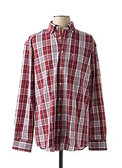 Chemise manches longues rouge BEN GREEN pour homme