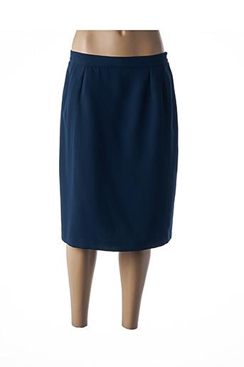 Jupe mi-longue bleu BREAL pour femme