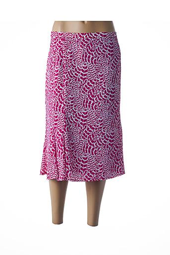 Jupe mi-longue rose COSTURA 40 pour femme